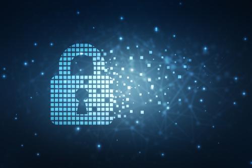 Digital lock image with pixels